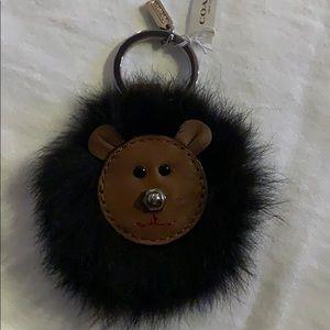 Coach mink keychain